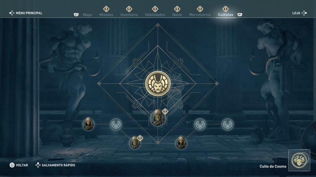 Assassin's Creed Odyssey - Após zerar - Missão do Legado A Ordem dos Ancioes