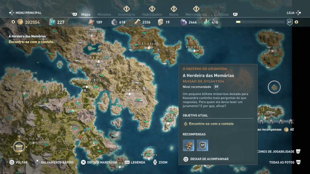 Assassin's Creed Odyssey - Trident Poseidon respirar debaixo dagua