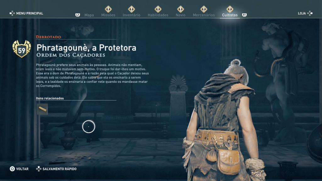 Phratagounè, a Protetora Assassin's Creed Odyssey O Legado Da Lâmina Caçada Ordem dos Caçadores