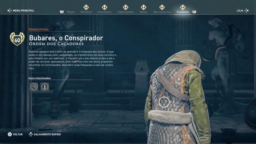 Bubares, o Conspirador derrotado