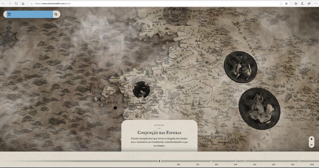 The Witcher Mapa Conjunção das esferas cronologia