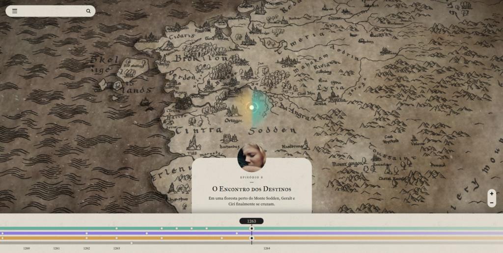 The Witcher site mapa continente e cronologico o encontro dos destinos