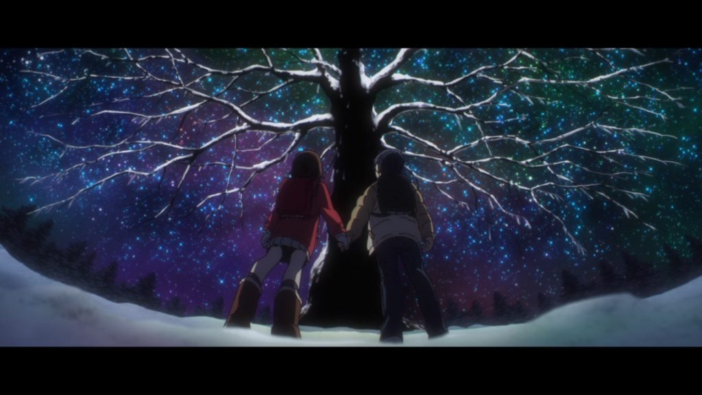 Erased Boku dake ga Inai Machi a cidade onde só eu não existo kayo e satoru arvore de natal