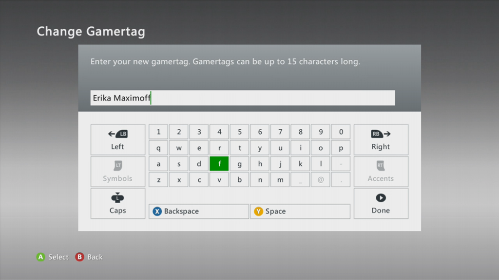 GamerTag Xbox 360