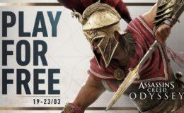 assassins creed odyssey jogue gratis no fim de semana