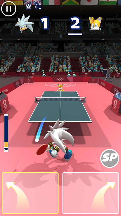 Sonic at the Olympic Games ping pong