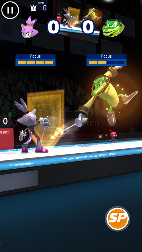 Sonic at the Olympic Games salto esgrima