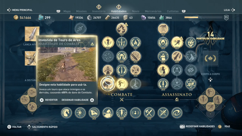 Assassin's Creed Odyssey - Ep 1 campos de Elísio Captura de Tela investida de touro de ares