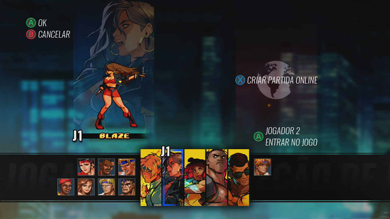 Streets of Rage 4 Captura de Tela personagens