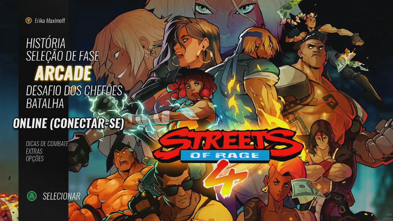 Streets of Rage 4 modos de jogo