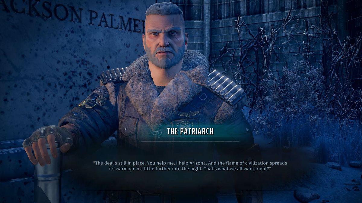 wasteland 3 o patriarca