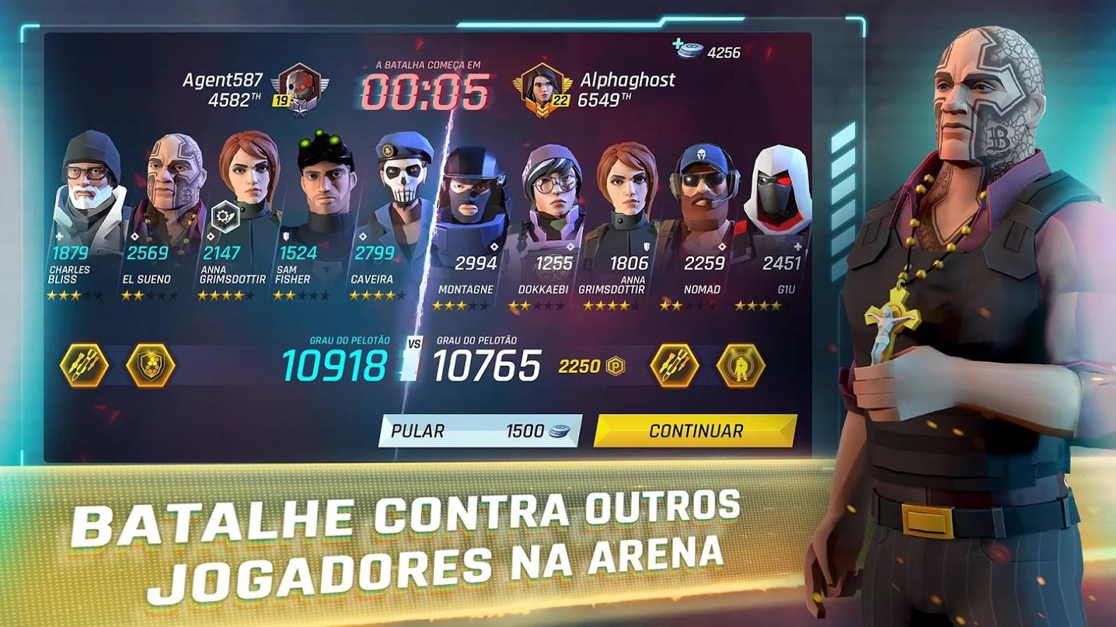 Tom Clancy's Elite Squad batalhas arena