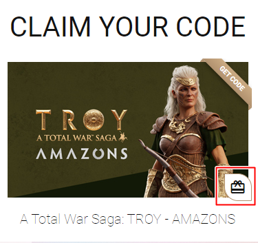 Total War Saga Troy DLC Amazons reclame o código