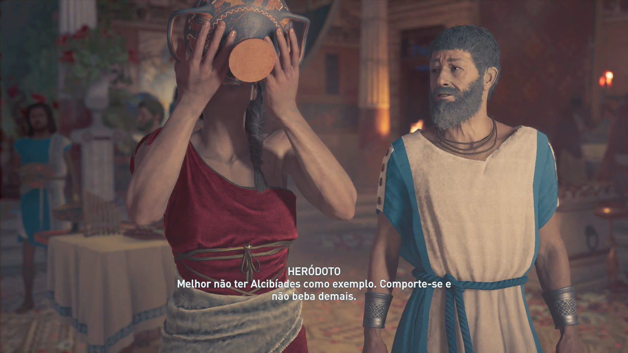 Assassin's Creed Odyssey alcibíades herotodo upando avida