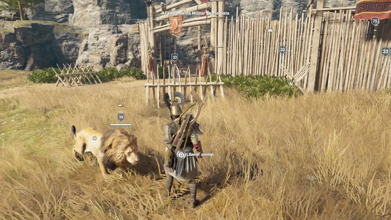 Assassin's Creed Odyssey animais domados upando a vida