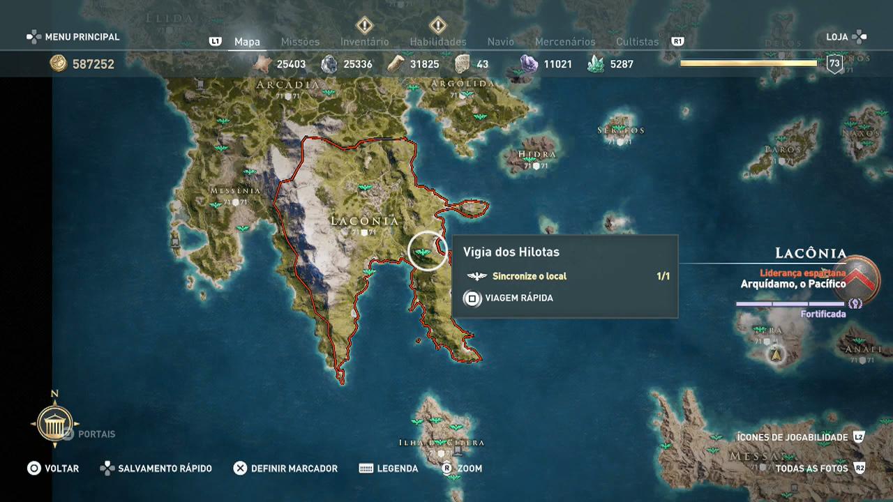 Assassin's Creed Odyssey - sincronizar upando a vida