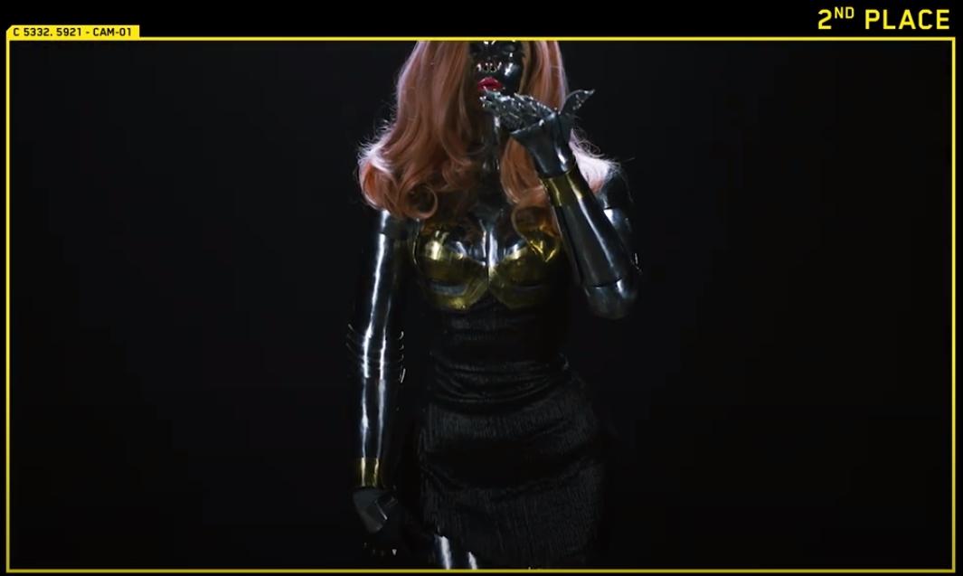 cyberpunk 2077 Segundo lugar Anna Ormeli Moleva, Rússia, como Lizzy Wizzy