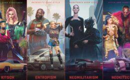 estilos cyberpunk 2077 kitsch entropism neomilitarism neokitsch