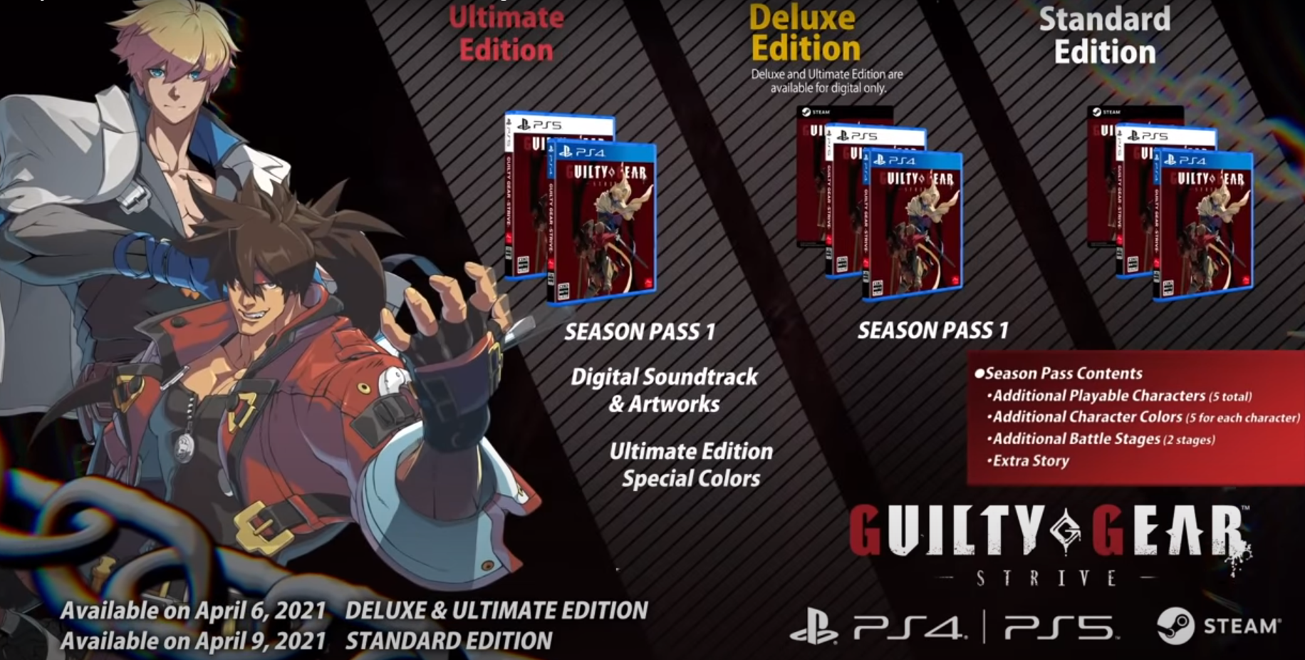 guilty gear strike game ps4 ps5 pc fight