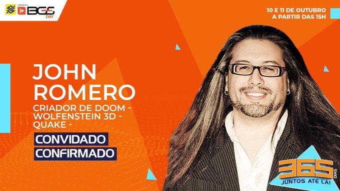 john romero criador de doom quake wolfenstein 3d bgs 2020