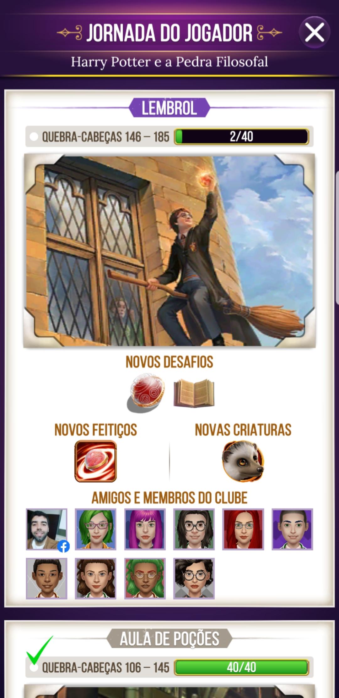 jornada do jogador_Harry Potter Puzzles & Spells