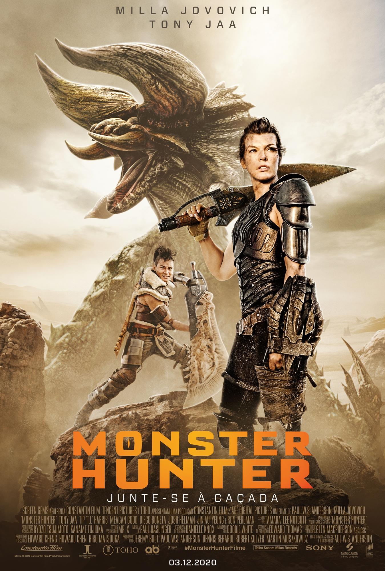poster monster hunter milla jovovich tony jaa red