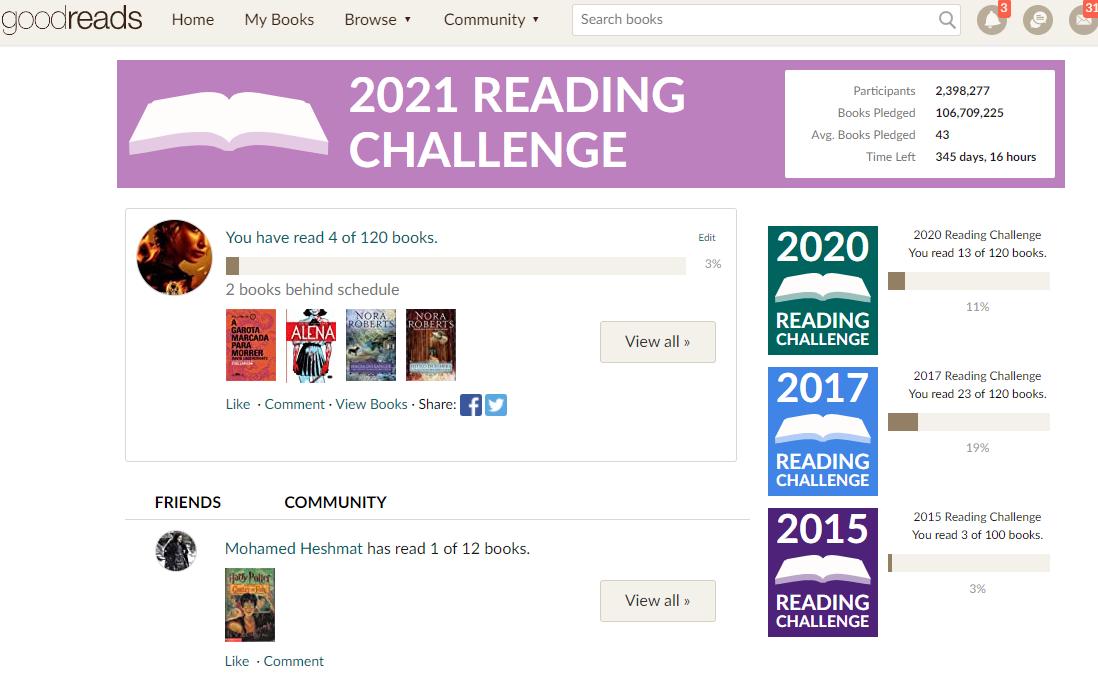 goodreads desafio literario