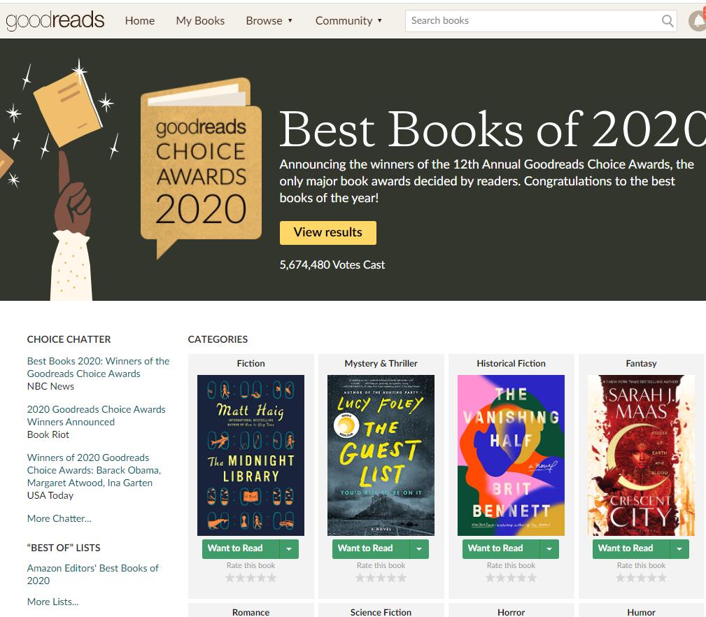 goodreads best books