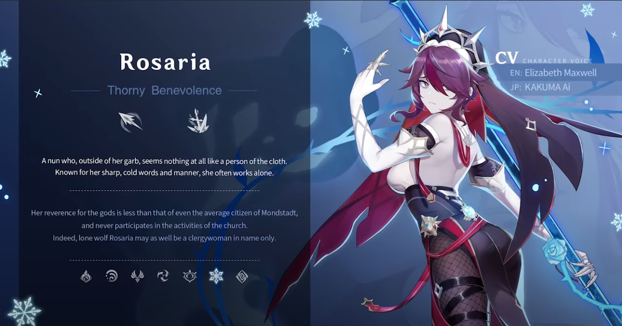 Genshin Impact 1.4 Rosaria