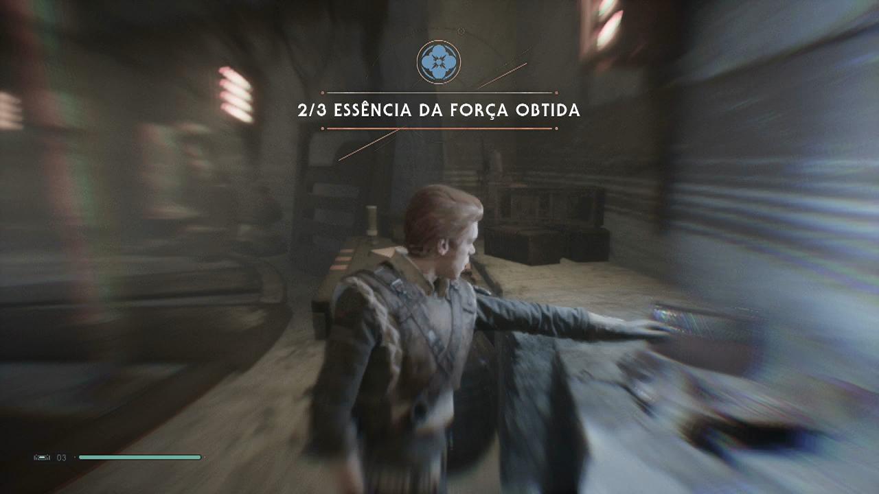 Jedi Fallen Order sabre de luz duplo bogano oficina abandonada