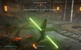 Jedi Fallen sabre de luz duplo sabre de luz lamina dupla