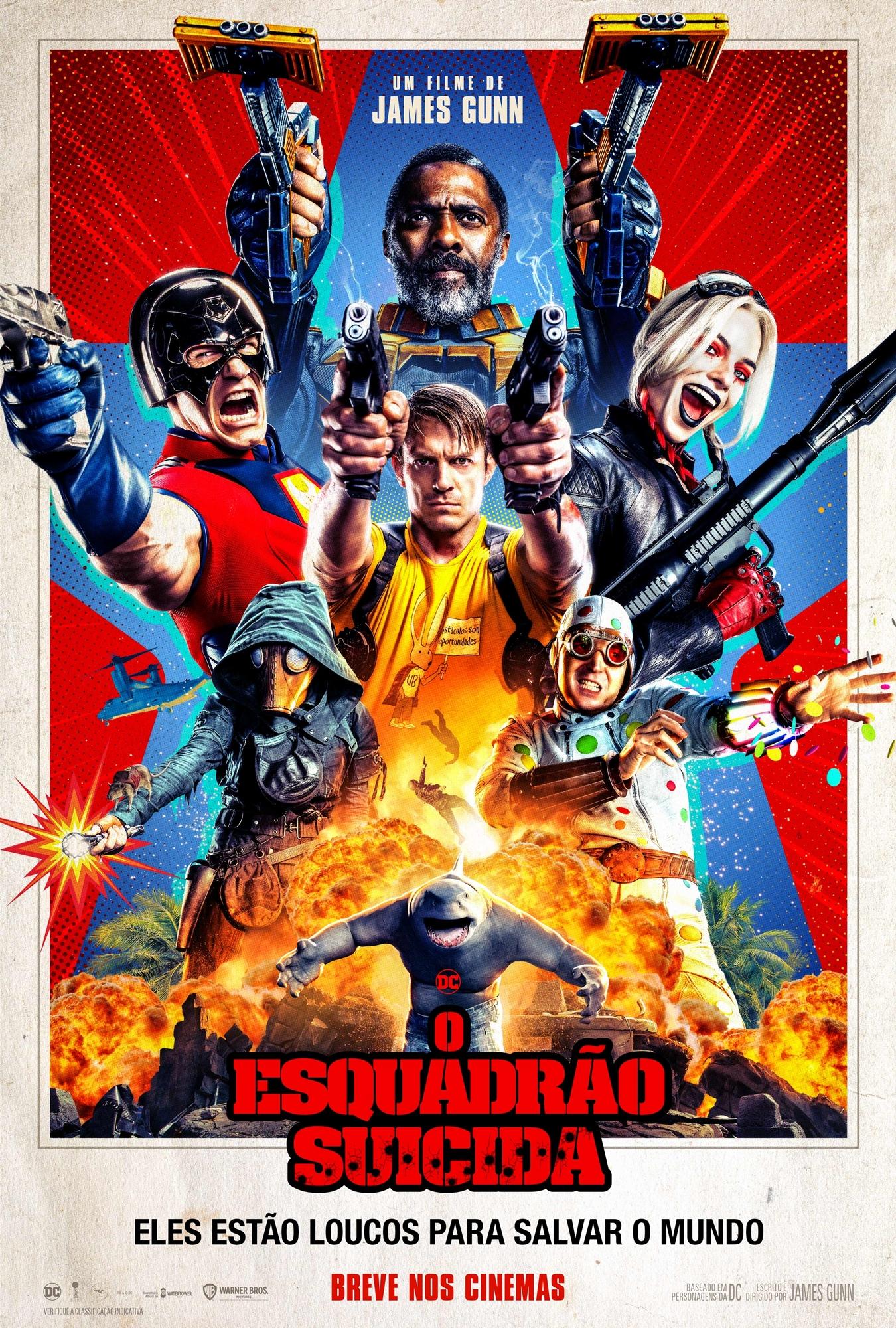 o esquadrao suicida warner dc comics poster red poster