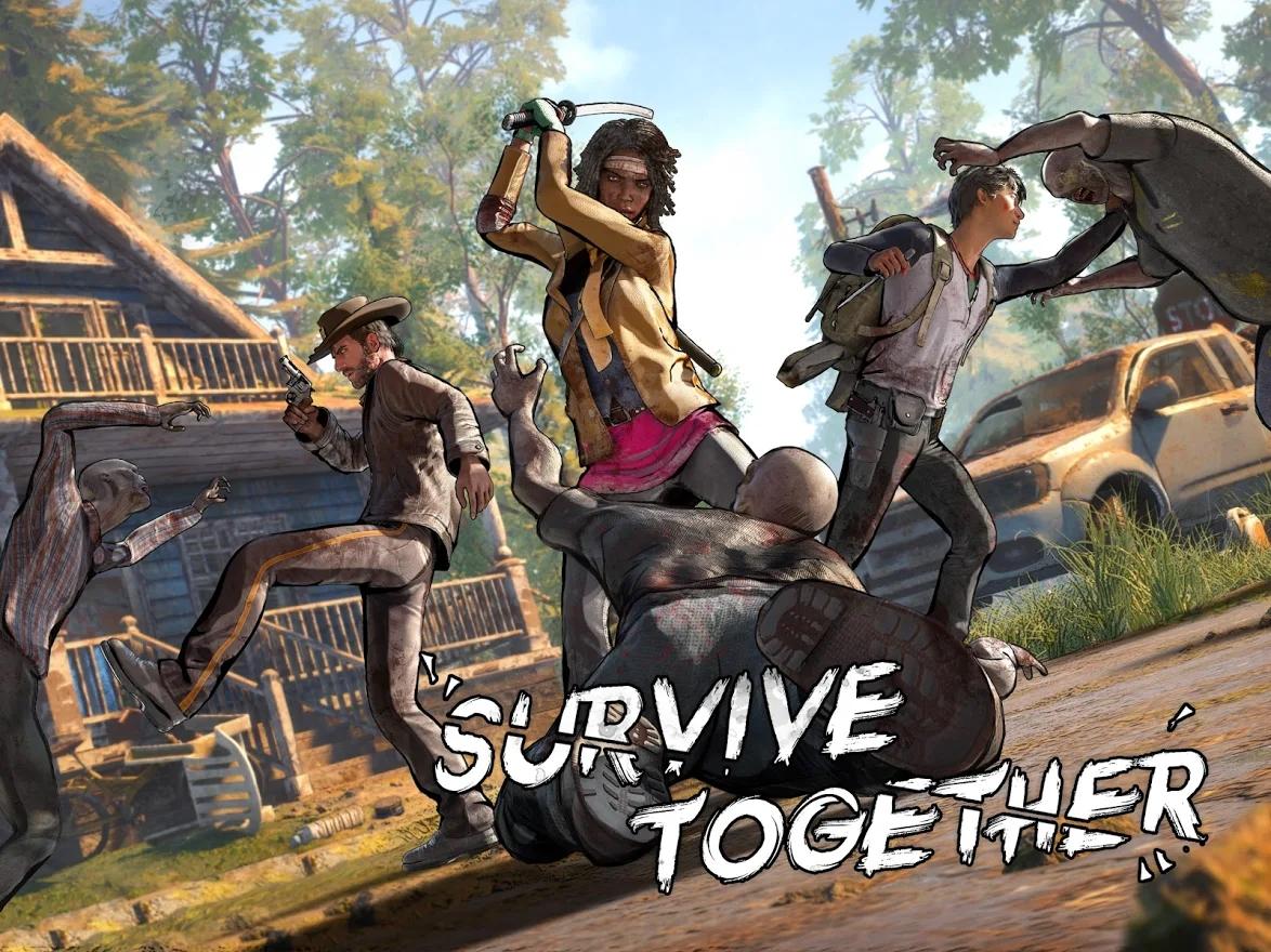the walking dead twd survivors rick michonne glen survive together