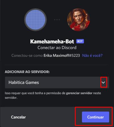 Como convidar seu bot para o servidor discord 05